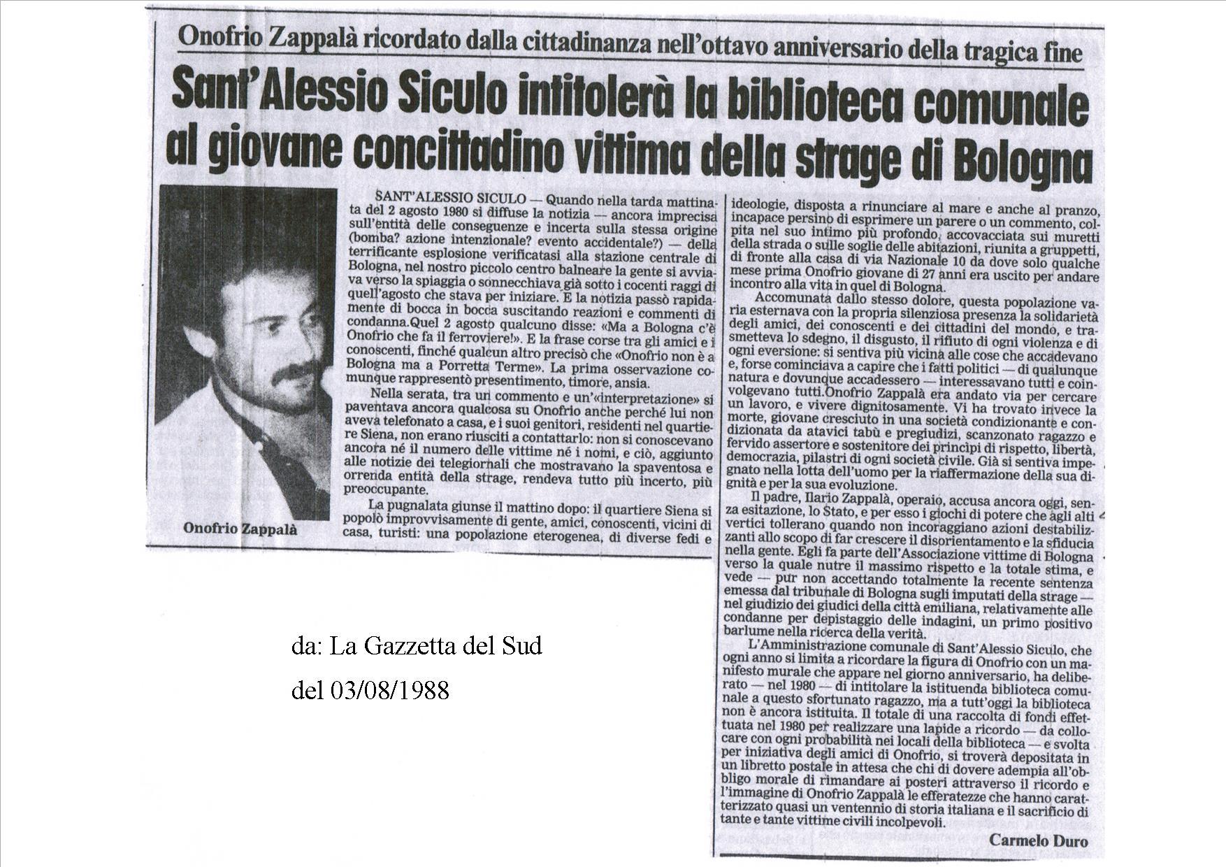 Rassegna stampa agosto 1988 associazione amici di for Radio radicale in diretta