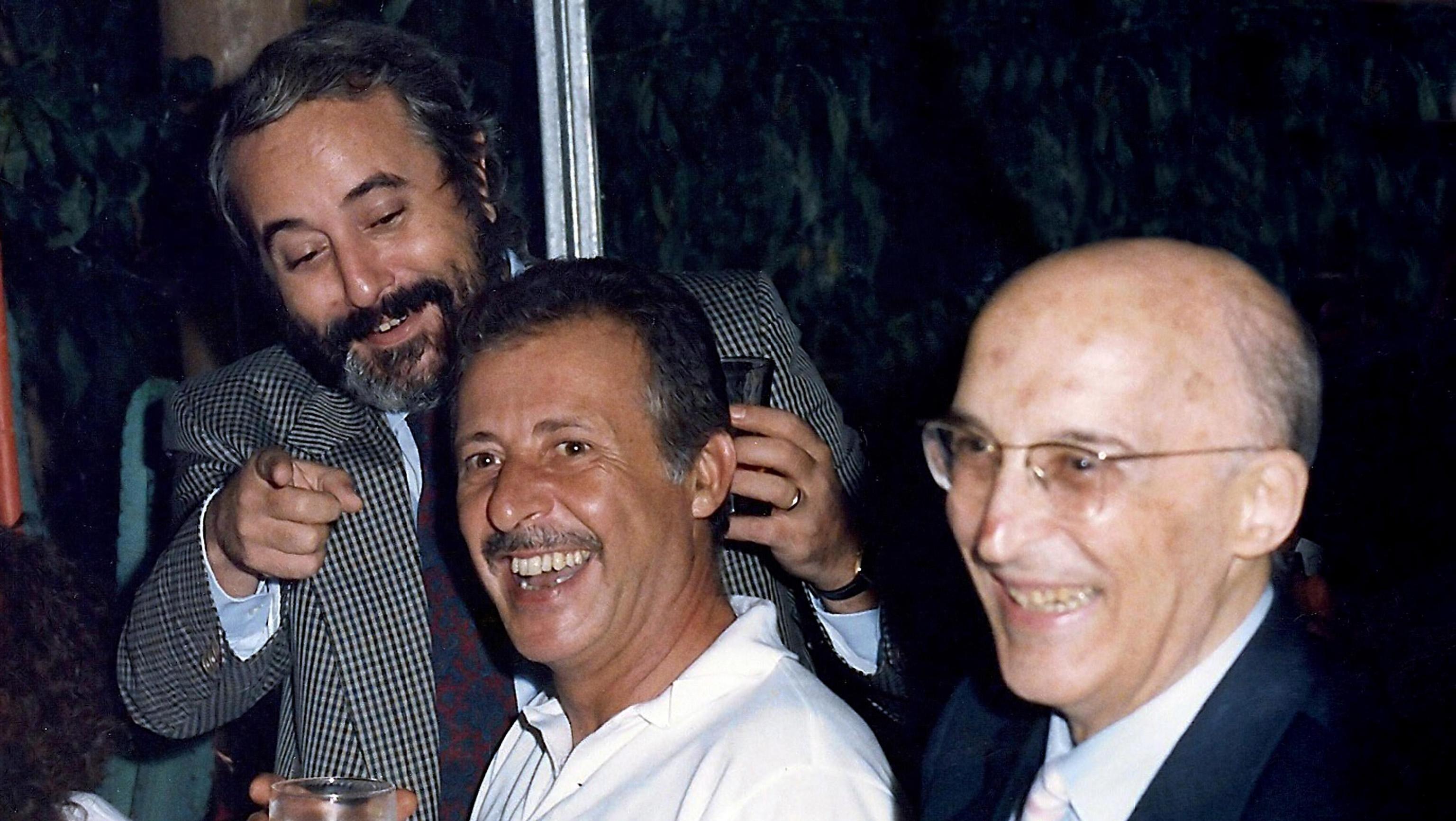 G. Falcone, P. Borsellino, A. Caponnetto
