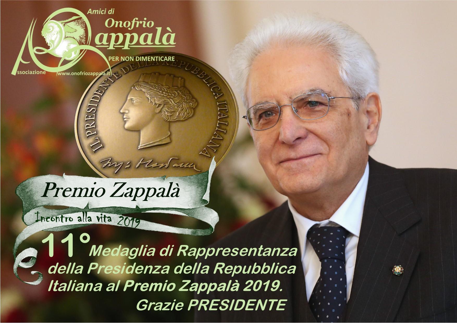 11° Medaglia della Presidenza della Repubblica -2019