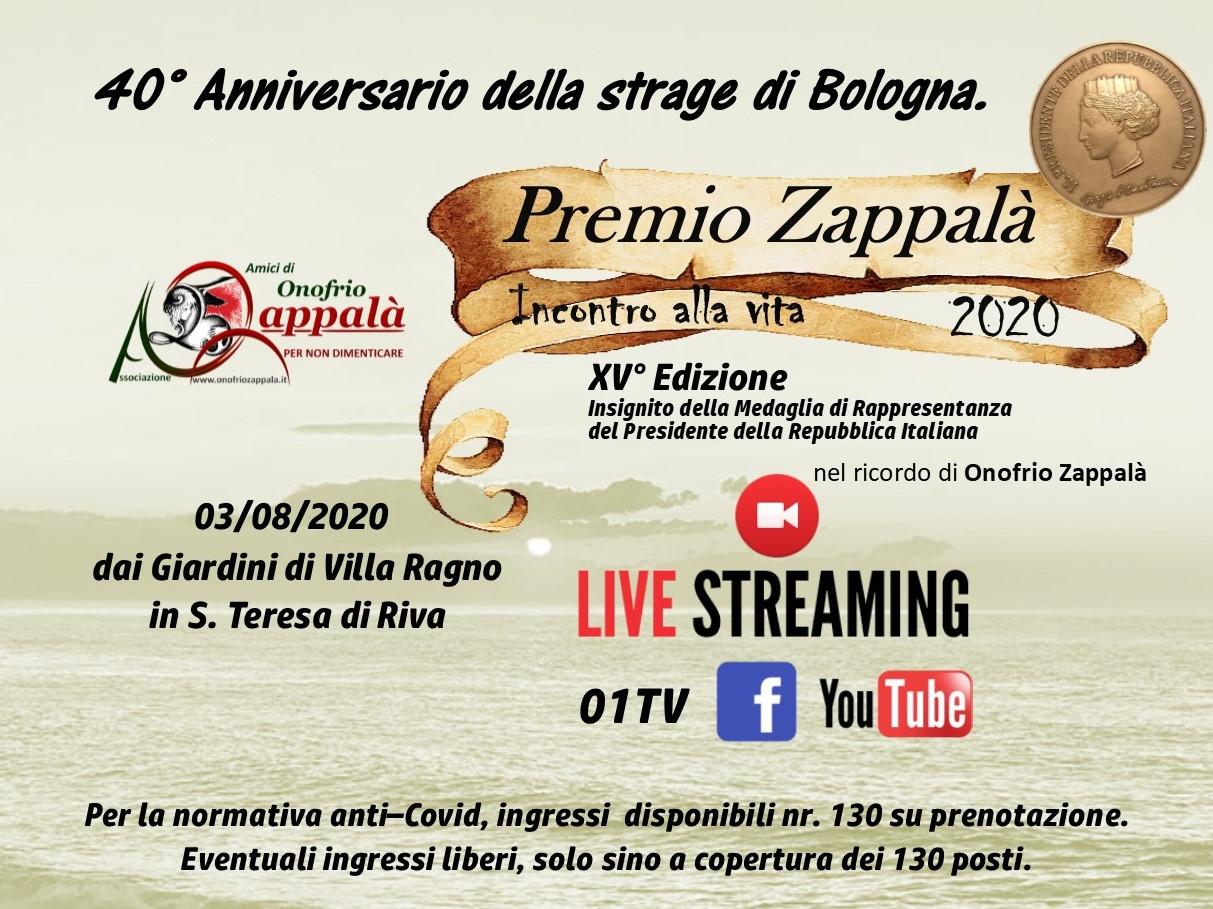 XV Ed. PREMIO ZAPPALA 2020 - Presentazione